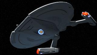akira class starship pbr lighting stars