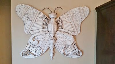 butterfly recycled art