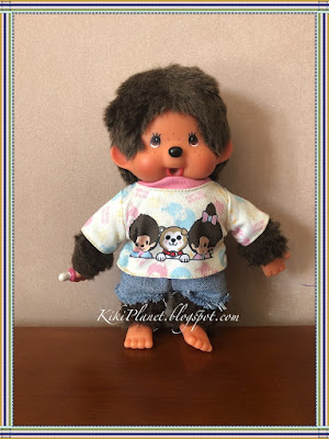 kiki monchhichi short jean vêtement couture sewing handmade fait main doll poupée