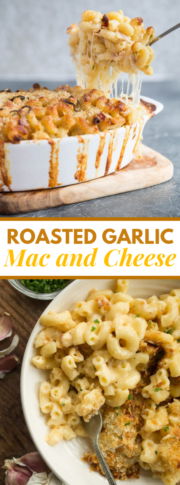 Roasted Garlic Mac and Cheese #dinner #hearty