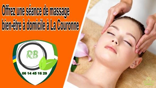 Offrez une séance de massage bien-être à domicile à La Couronne;