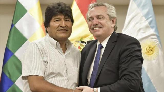 Argentina desafía a Bolivia de Áñez y deja que Evo haga política