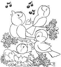 Cute Bird Coloring Sheet Animals At Garden