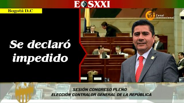 Óscar Sánchez León impedido para elegir nuevo contralor