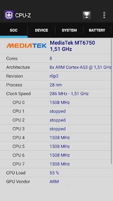 CPU-Z - Sistema MediaTek