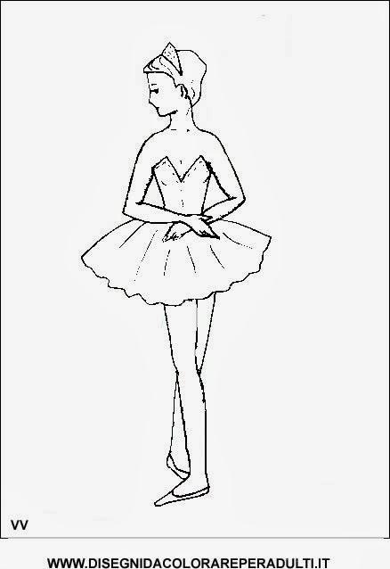 Disegni ballerine da colorare for Stampa disegni da colorare