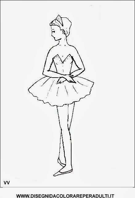 Disegni Di Ballerine Di Danza Classica Da Stampare Ballerina Di