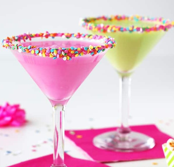 Birthday Cake Martini #drinks #cocktails
