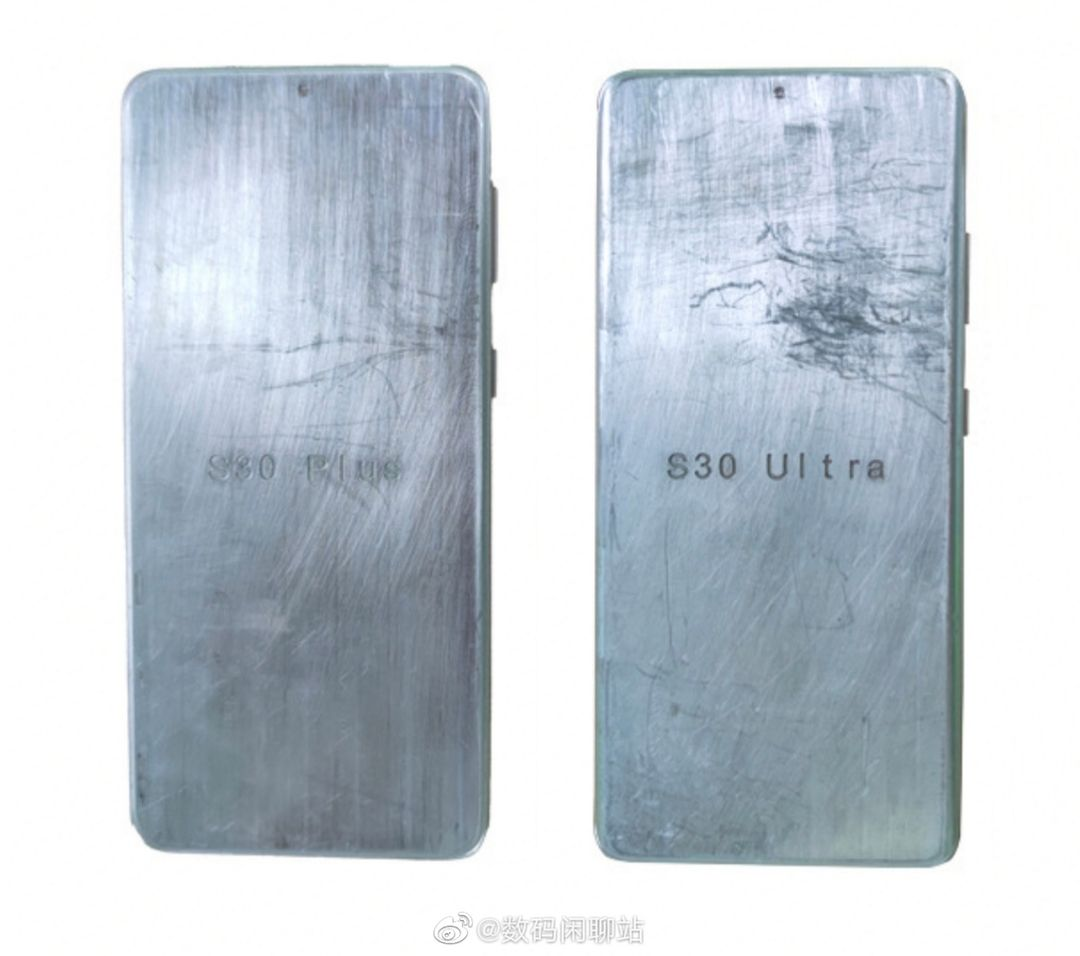 Samsung Galaxy S30 Plus and Galaxy S30 Ultra Metal Mold Unveil Front Design