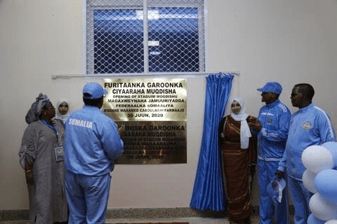 Somali new statdium photos and video