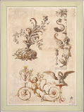 Ornamental Design by Charles-Louis Clerisseau - History Drawings from Hermitage Museum