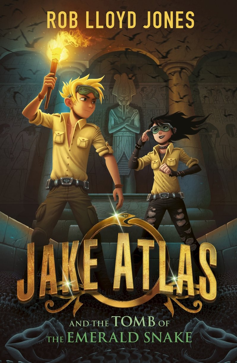 Book Three: Rob Lloyd Jones  Book Cover By Petur Antonsson  Jake Atlas  And The Tomb Of The Emerald Snake  Published By Walker Books (5 Jan 2017)