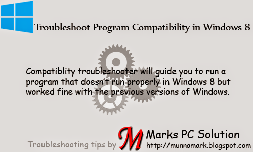 Troubleshoot Incompatible Programs in Windows 8