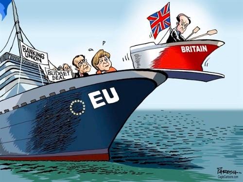 """Caricature sur le Brexit : David Cameron """"quitte le navire"""""""