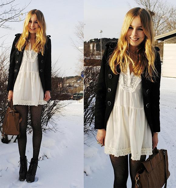 e243b37ca Muitas meninas me perguntam como eu consigo me manter usando vestidos na estação  mais fria do ano
