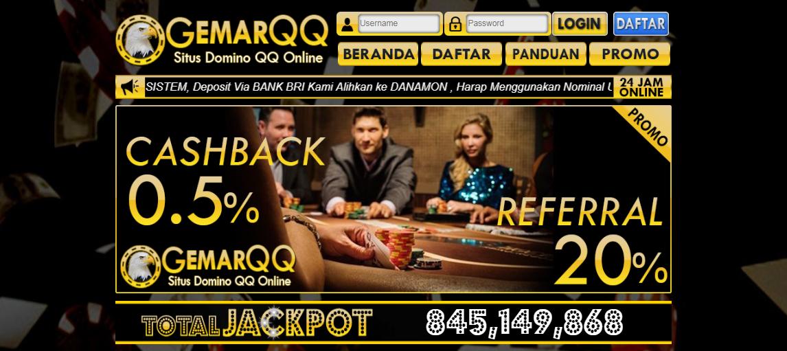 GemarQQ Situs Poker Online Domino QQ 99 Terbaik 2018