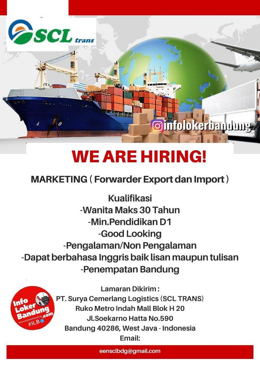 Lowongan Kerja PT. Surya Cemerlang Logistic ( SCL Trans) Bandung Agustus 2020