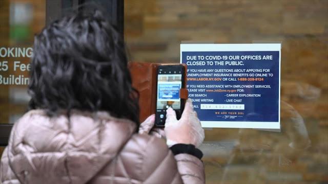 Unos 3.3 millones de personas piden subsidio por desempleo en EEUU