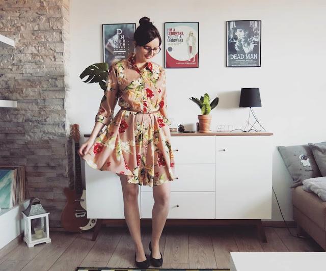 WIOSNA Z DRESSLILY   SUKIENKA   FLORAL PRINT DRESS