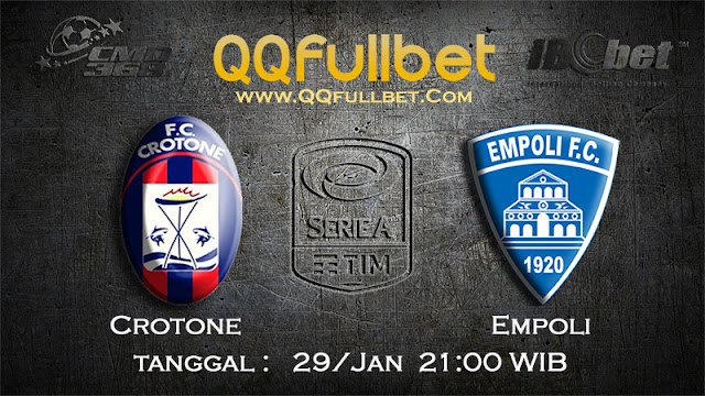 PREDIKSIBOLA - Prediksi Taruhan Bola Crotone vs Empoli 29 Januari 2017 (Serie A Italia)