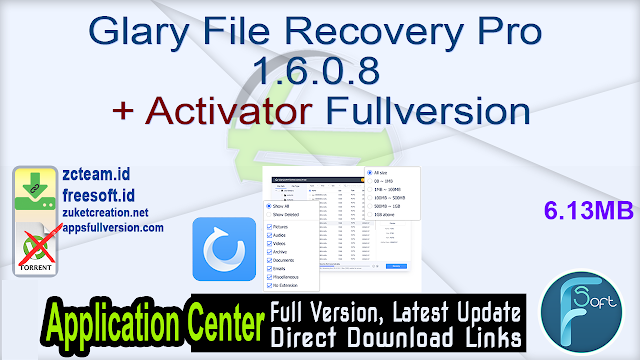 Glary File Recovery Pro 1.6.0.8 + Activator Fullversion