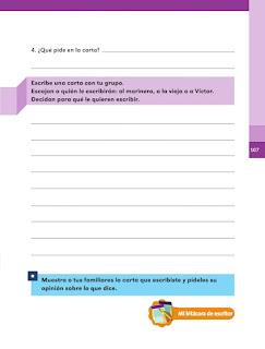 Apoyo Primaria Español 1er grado Bimestre 3 lección 14 La carta