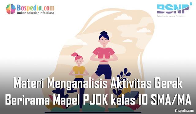 Materi Menganalisis Aktivitas Gerak Berirama Mapel PJOK kelas 10 SMA/MA