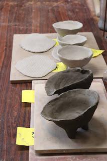 山野草盆栽の鉢 陶芸体験教室 素焼き前