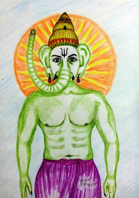 PENCIL DRAWING = UPDATED VINAYAGAR