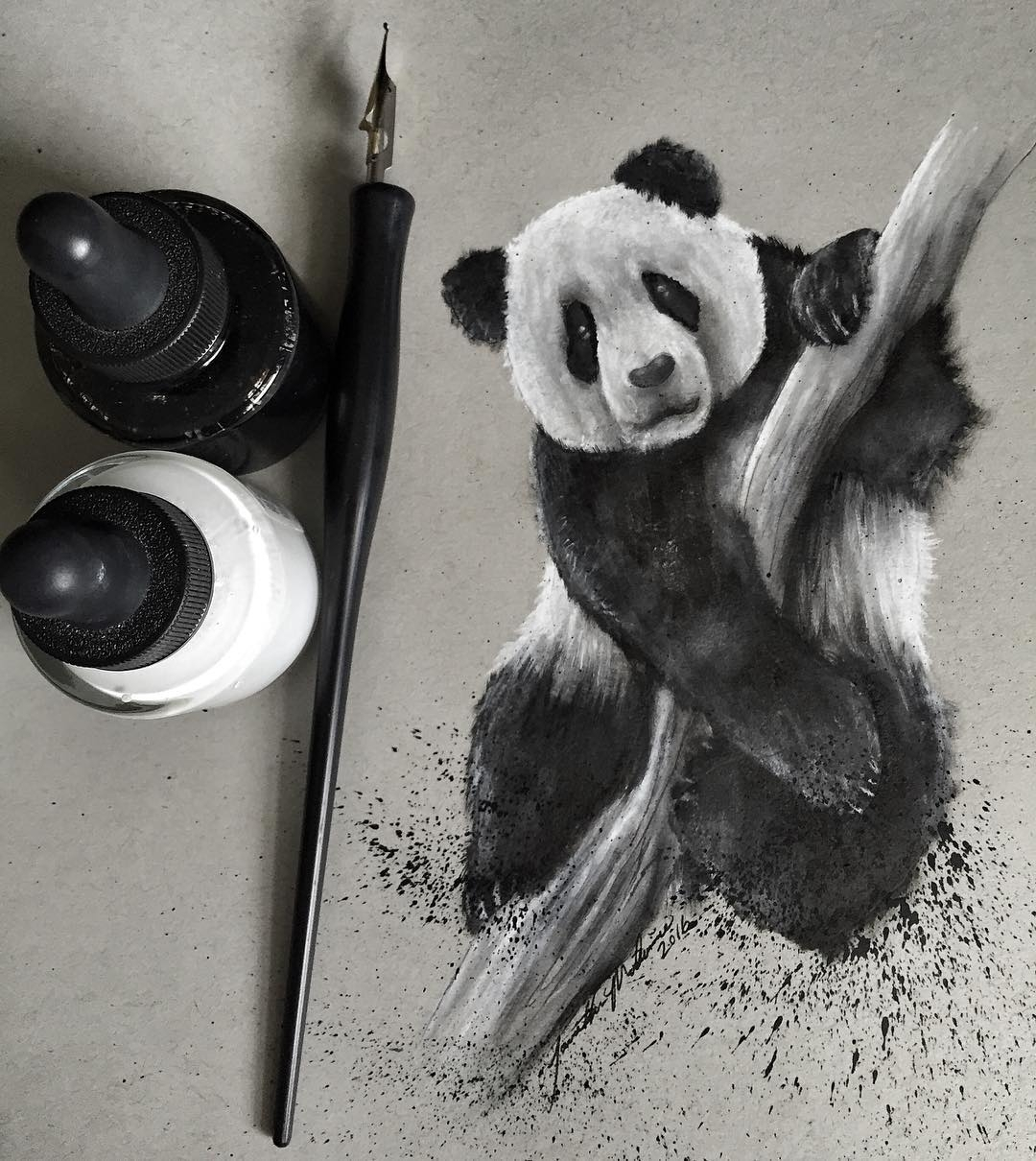 15-Inks-and-Pandas-Jonathan-Martinez-Art-of-the-Endangered-Paintings-and-Drawings-www-designstack-co