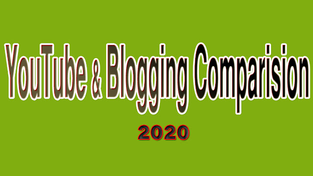 blogging and youtube comparision