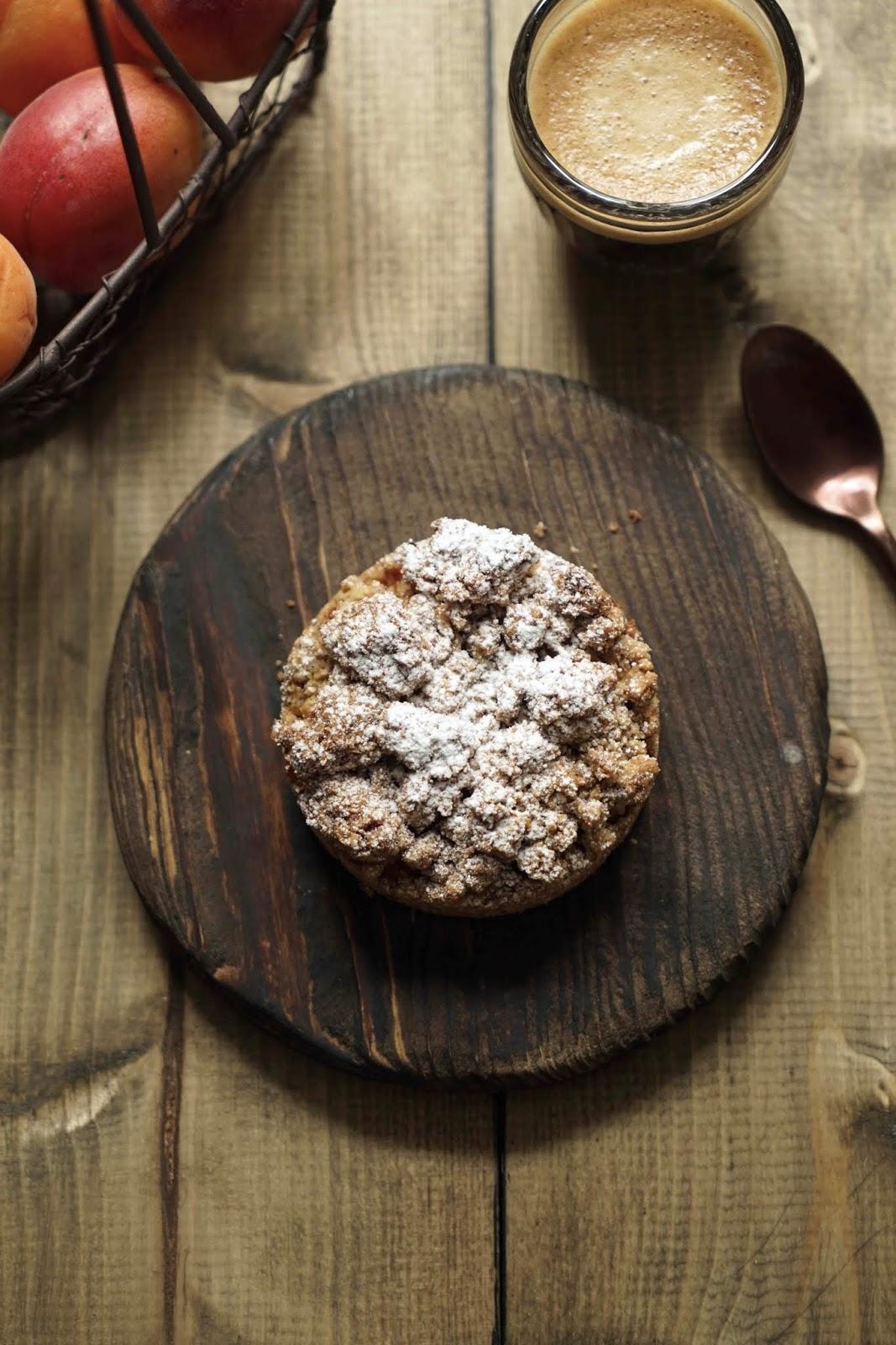 crumble , tarte à l'abricots , recette d'été , dessert de saison