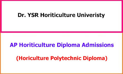 AP Horticulture Diploma Admission Notification