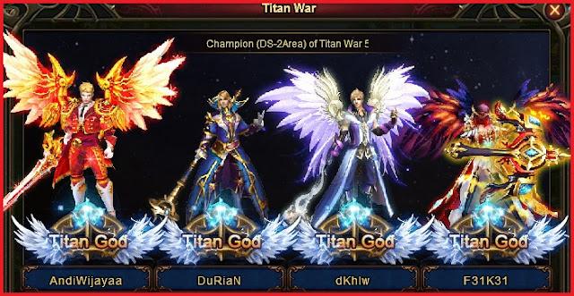 Divosaga Titan War Season 5 Winner (Andiwijayaa, durian, dkhlw, Feikei from Outlawz_FC)