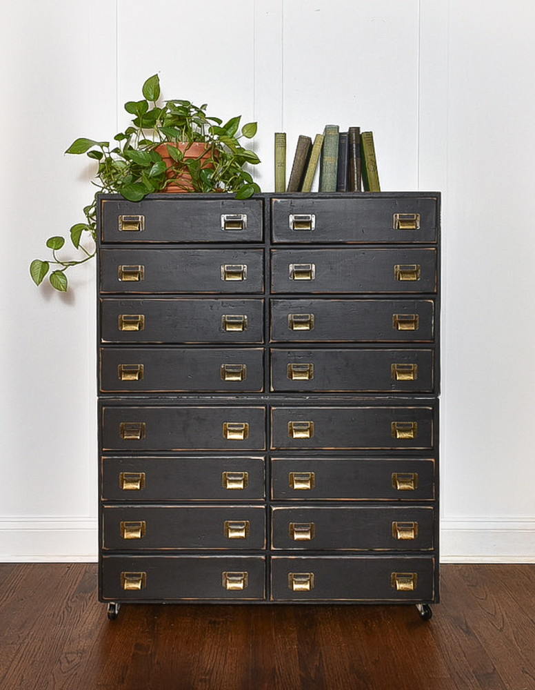 Painted vintage-inspired multi-drawer cabinet