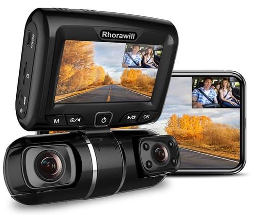 Rhorawill 1080p Car Dual Dash Cam Dashboard Camera