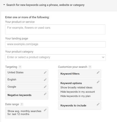 cara menggunakan google keyword planner dengan maksimal