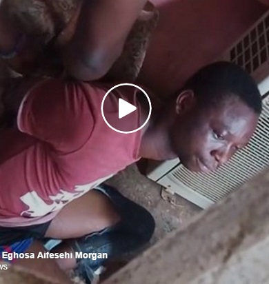 SHOCKING: Watch Video, Photos of Church Members Tie Up Pastor For Sleeping With Female Congregant