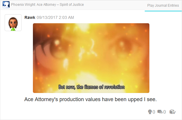 Phoenix Wright Ace Attorney Spirit of Justice flames of revolution cutscene