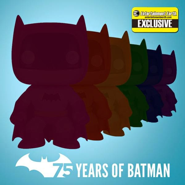 Entertainment Earth Exclusive The Rainbow Batman Pop! Series by Funko