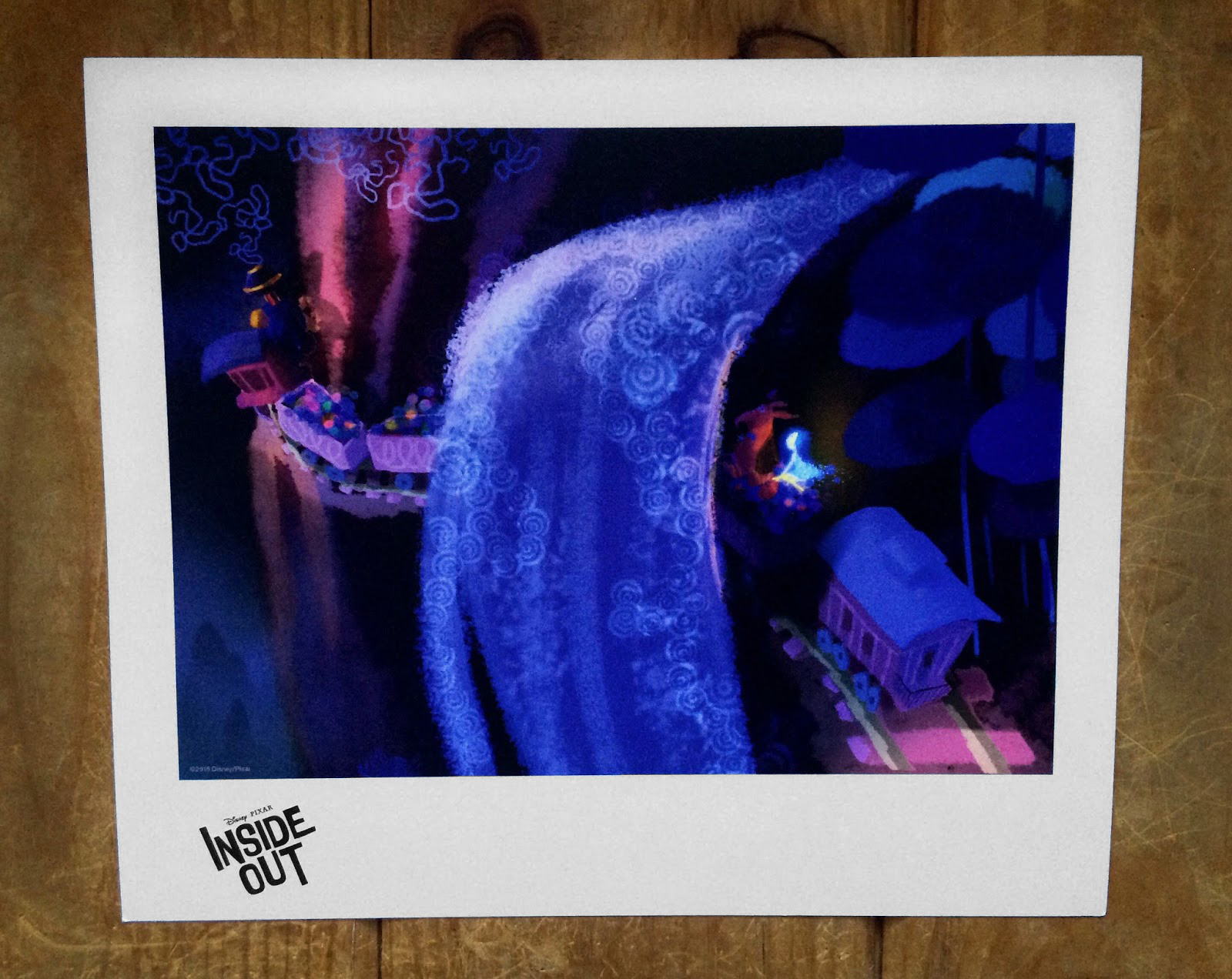 inside out lithograph print d23 expo