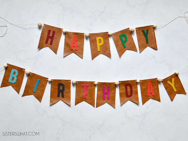 How to Make a Birthday Banner out of Felt and Leather