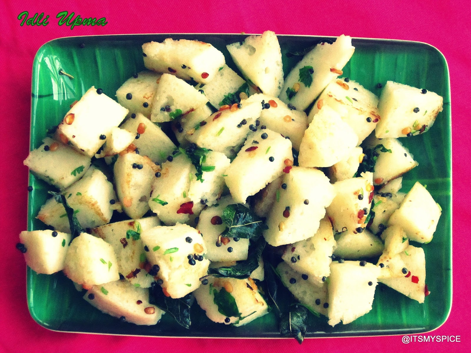 using up leftover idlis for  a simple upma