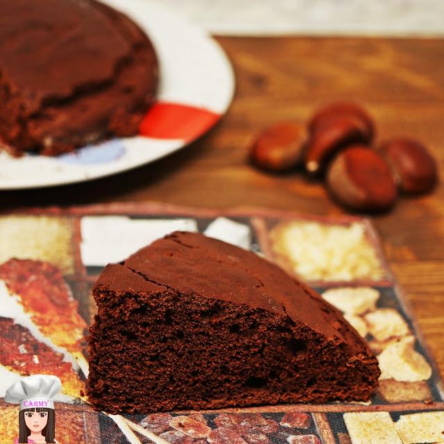 torta di castagne e cacao