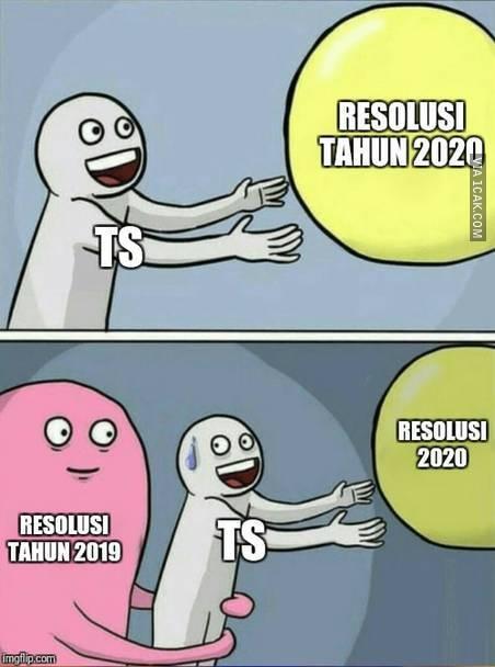 10 Meme Lucu 'Resolusi Tahun 2020' Ini Bikin Cekikikan Sendiri