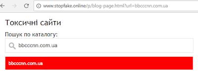 перевірка на наявність в списку фейкових сайтів