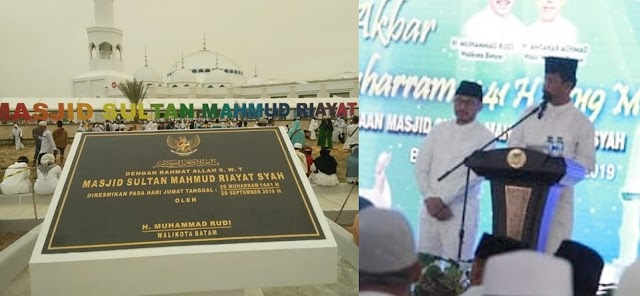 Masjid Sultan Mahmud Riayat Syah Diresmikan Walikota Batam