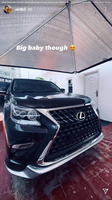 Singer Skiibii buys a brand new Lexus SUV (photos)