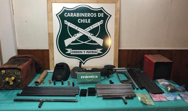 Detenido adulto mayor por fabricar armas de fuego artesanales en Purranque
