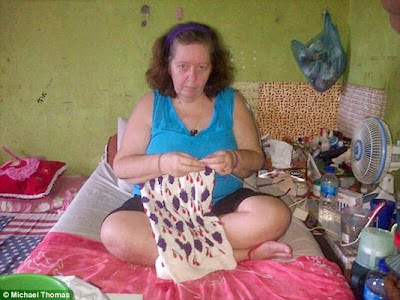 Lindsay Sandiford in her Kerobokan prison death-row cell